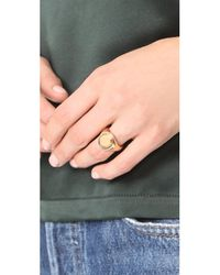 Gabriela Artigas - Metallic Signet Ring - Lyst