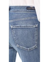 Citizens of Humanity - Blue Jazmin Ankle Cuffed Slim Straight Jeans - Lyst