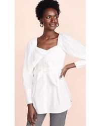 Sea - White Knot Blouse - Lyst
