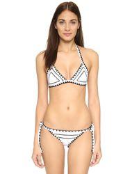 Same Swim - White The Tease Tie Side Bikini Bottoms - Lyst