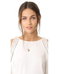 Elizabeth and James - Metallic Tassie Pendant Necklace - Lyst
