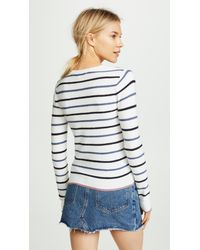 Cupcakes And Cashmere - White Koko Multi-striped Sweater - Lyst