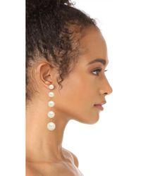 Kate Spade - Multicolor Girly Pearly Linear Earrings - Lyst