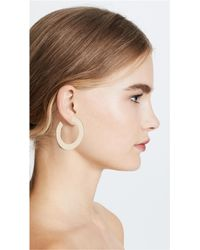 Jennifer Zeuner - Metallic Golda Medium Hoop Earrings - Lyst