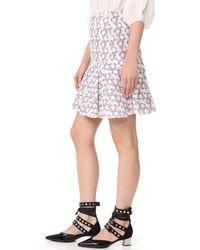 Giambattista Valli - Multicolor Ruffle Skirt - Lyst