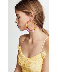 Mercedes Salazar - Multicolor Rainbow Days Hoop Earrings - Lyst