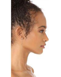 SHAY - Metallic 18k Gold Infinity Diamond Chain Earrings - Lyst