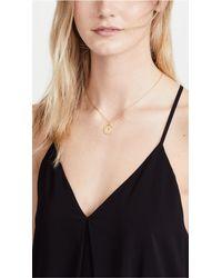 Kate Spade - Metallic Letter Pendant Necklace - R - Lyst