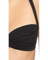 Norma Kamali - Black Bill Bikini Top - Lyst