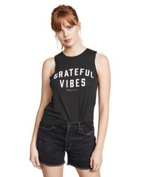 Spiritual Gangster - Black Grateful Vibes Muscle Tank - Lyst
