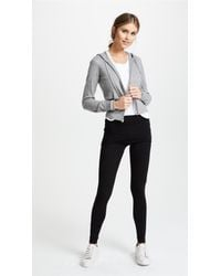Splendid - Black Fold Over Leggings - Lyst