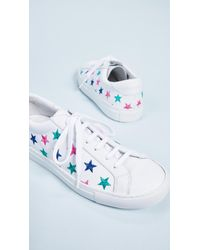 South Parade - White Stars Leather Lace Up Sneakers - Lyst