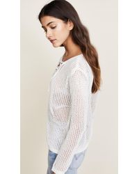 BB Dakota - White Lily Lace Up Sweater - Lyst