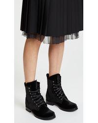 Frye - Black Veronica Combat Boot - Lyst