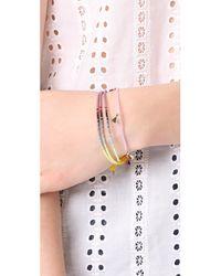 Shashi - Pink Morgan Single Bracelet - Lyst