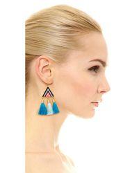 Rebecca Minkoff | Blue Catalina Seed Bead Statement Earrings | Lyst