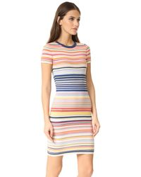 Alice + Olivia | Blue Hayden Striped Dress | Lyst