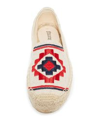 Soludos - Multicolor Embroidered Platform Smoking Slippers - Lyst