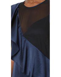 Diane von Furstenberg - Blue Sleeveless Ruffle Jumpsuit - Lyst
