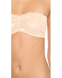Free People - Natural Essential Lace Bandeau Bra - Lyst