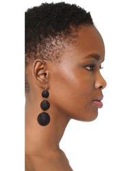 Kenneth Jay Lane - Black Triple Tier Drop Earrings - Lyst