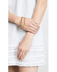Kate Spade - Metallic Scrunched Scallops Stackable Bangles Bracelet Set - Lyst