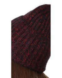Tak.ori - Red Knit Beanie - Lyst
