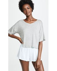 Honeydew Intimates - Gray Rainbow Chaser Tee & Short Set - Lyst
