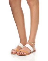Shashi - White Disc Anklet - Lyst