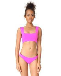 L*Space - Purple Parker Bikini Top - Lyst