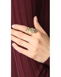 Alexis Bittar - Metallic Assorted Stone Ring - Lyst