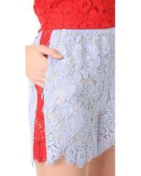 Goen.J - Blue Lace Shorts - Lyst