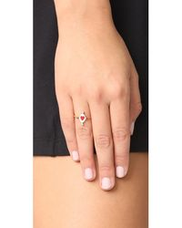 Holly Dyment - Multicolor Go Lightly Heart Ring With Rubies - Lyst