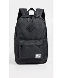 cd7a71910be Herschel Supply Co. Heritage Mid Volume Backpack in Black - Lyst
