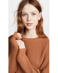 Vince - Brown Diagonal Rib Sweater - Lyst