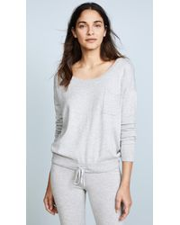 CALVIN KLEIN 205W39NYC - Gray Pure Knit Long Sleeve Crewneck - Lyst