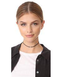Adina Reyter - Metallic Pave Hexagon Choker Necklace - Lyst