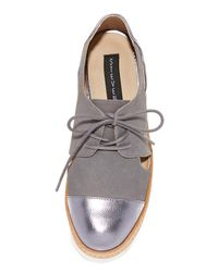 Steven by Steve Madden - Gray Pippar Cutout Oxfords - Lyst