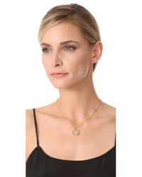 Kenneth Jay Lane | Metallic Coin Pendant Necklace | Lyst