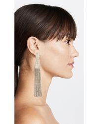 Oscar de la Renta - Metallic Classic Chain Tassel Earrings - Lyst