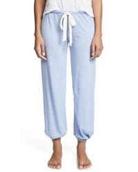 Eberjey - Blue Heather Cropped Pants - Lyst