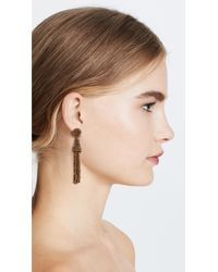 Deepa Gurnani - Metallic Deepa By Rose Earrings - Lyst