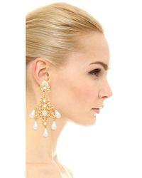 Kenneth Jay Lane | Metallic Imitation Pearl Clip On Earrings | Lyst