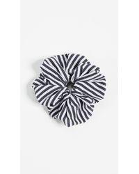 Solid & Striped - Blue The Seersucker Scrunchie - Lyst