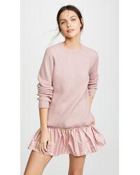 953f8ab94ad RED Valentino Drop Waist Dress With Taffeta in Pink - Lyst