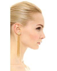 Ben-Amun - Metallic Six Chain Drop Earrings - Lyst
