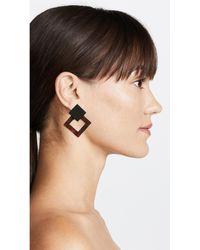 Amber Sceats - Brown Valencia Earrings - Lyst