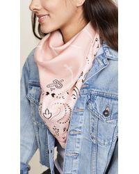 Rag & Bone - Pink Bandana Print Dagger Scarf - Lyst