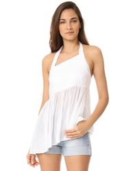 Free People | White Just Can't Get Enough Top | Lyst