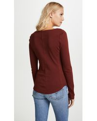 Free People - Red Looking Back Top - Lyst